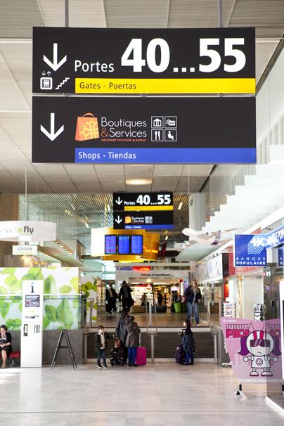 L'aéroport de Toulouse Blagnac : lumineux !