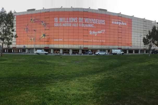 1000m2 d'affichage à l'aéroport Toulouse-Blagnac